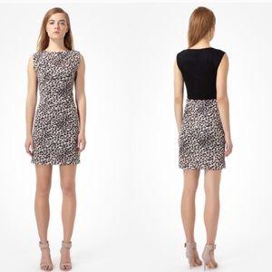 Rebecca Taylor Grey Animal Print Cheetah Dress
